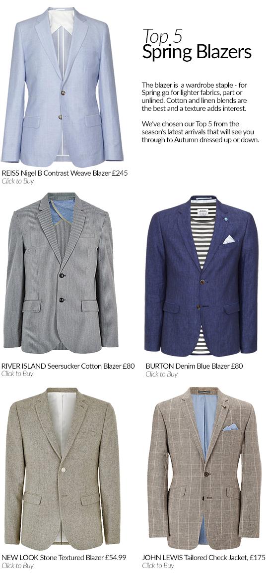 Top 5 Men's Spring Blazers