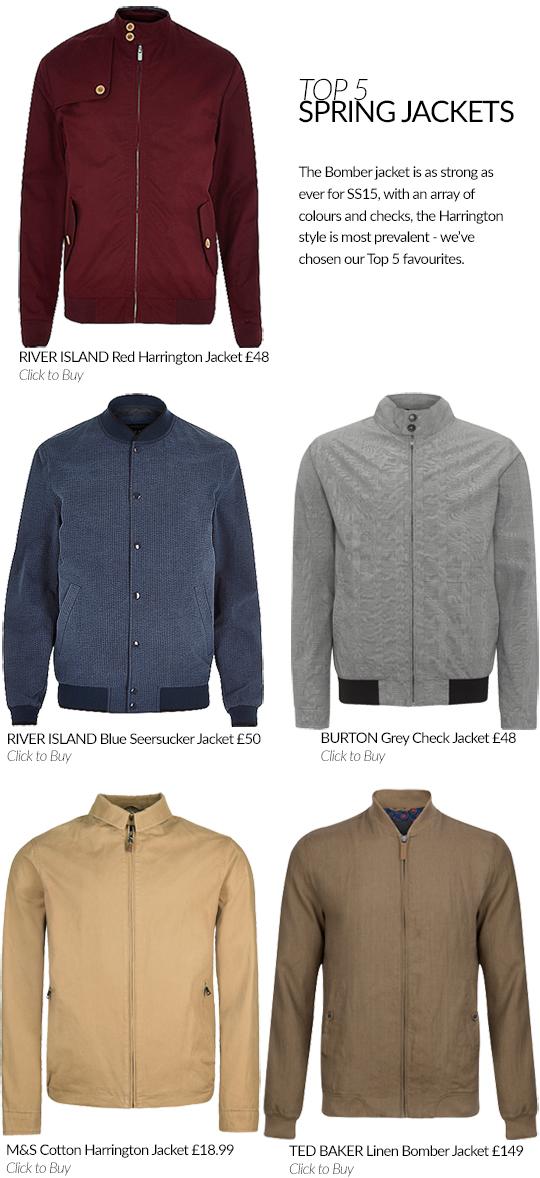 Top 5 Spring Jackets for Men