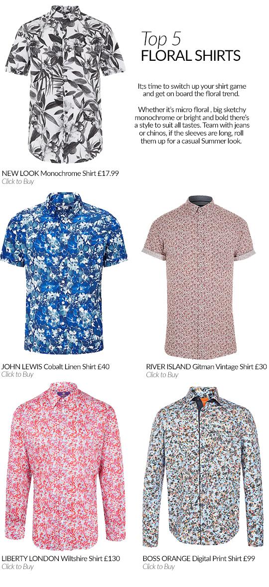 Top 5 Floral Shirts for Men