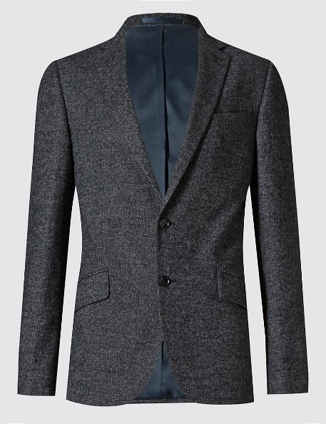 Autography Slim Fit 2 Button Jacket With Wool, £129