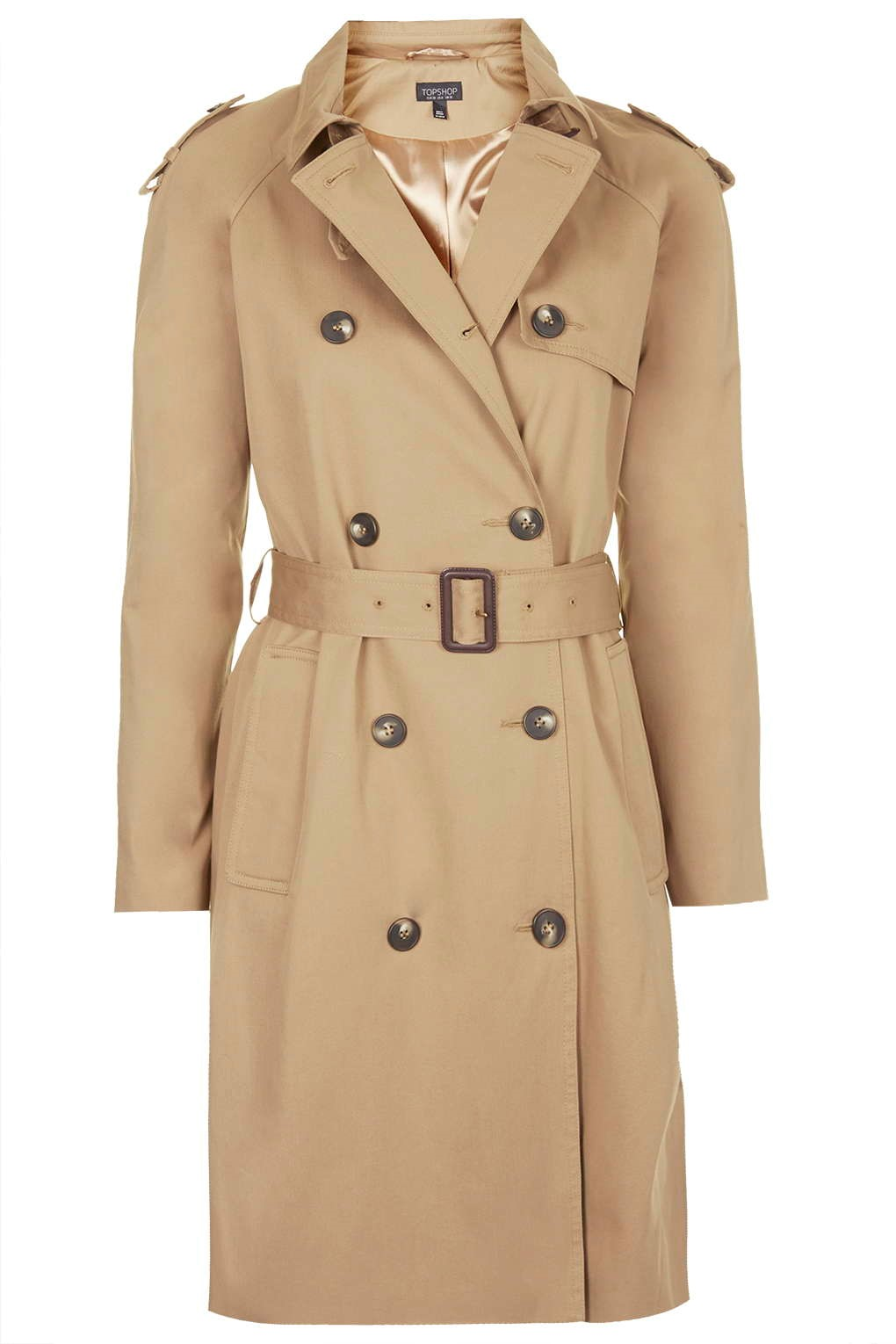 Topshop Cotton Camel Trench Coat, £75