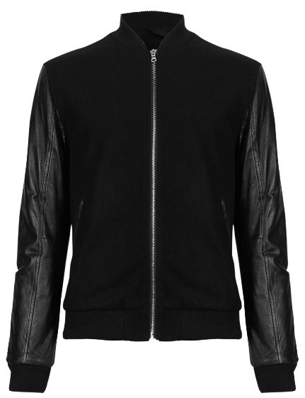 Autograph Wool Blend Tailored Fit Bomber Jacket, £149