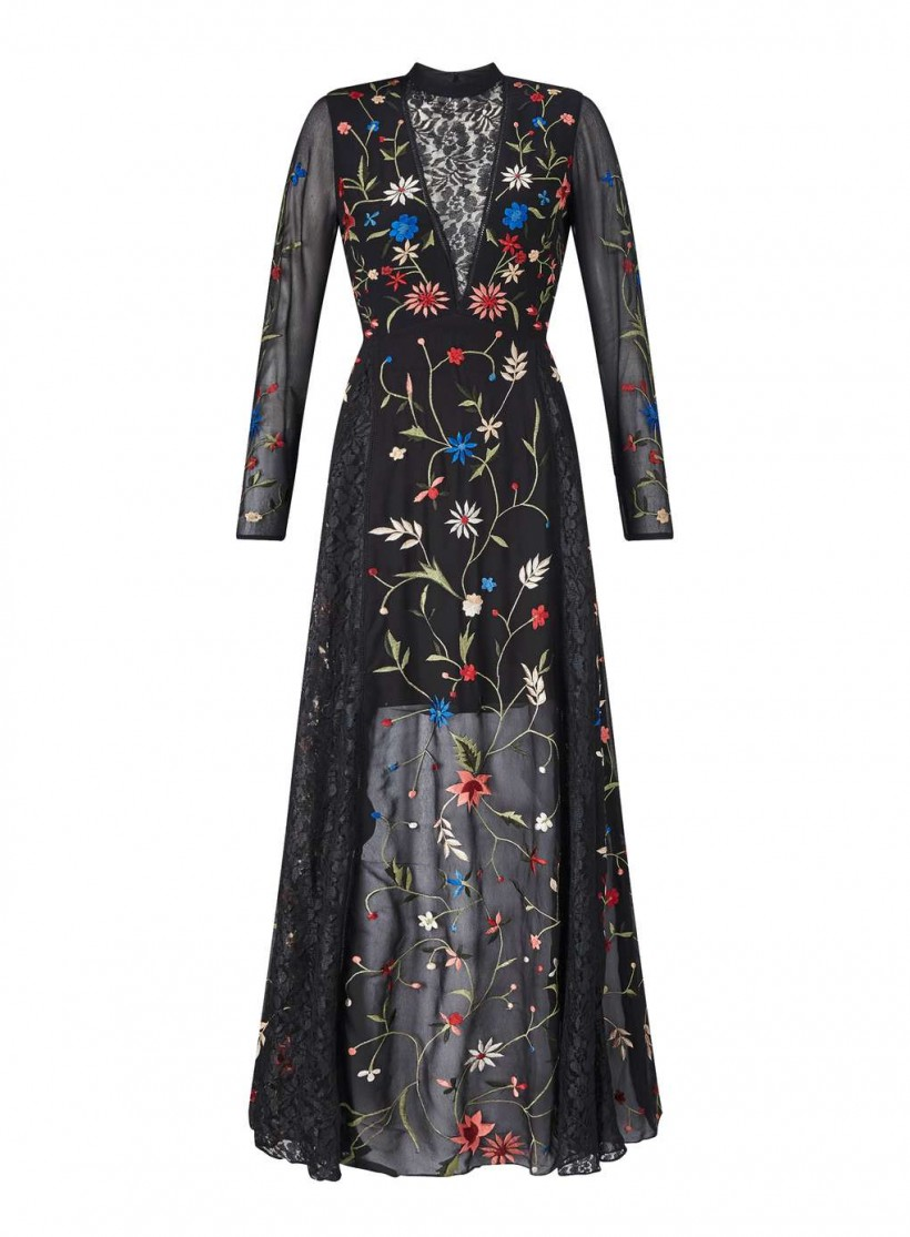 Miss Selfridge Embroidered Maxi Dress