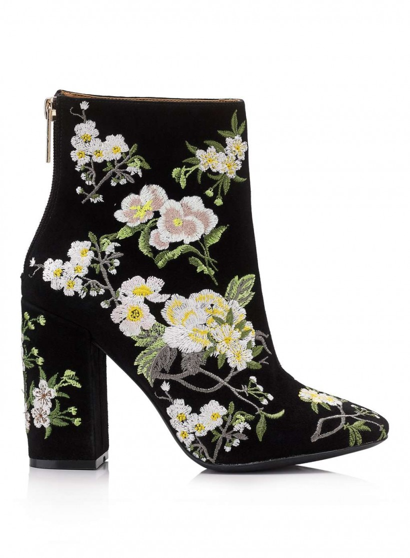 MISS SELFRIDGE ATHENA FLORAL EMBROIDERED BOOTS