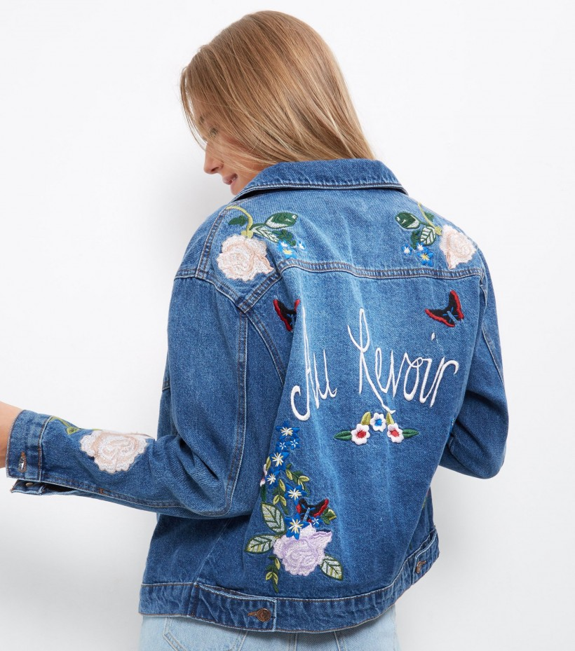 NEW LOOK AU REVOIR EMBROIDERED JACKET