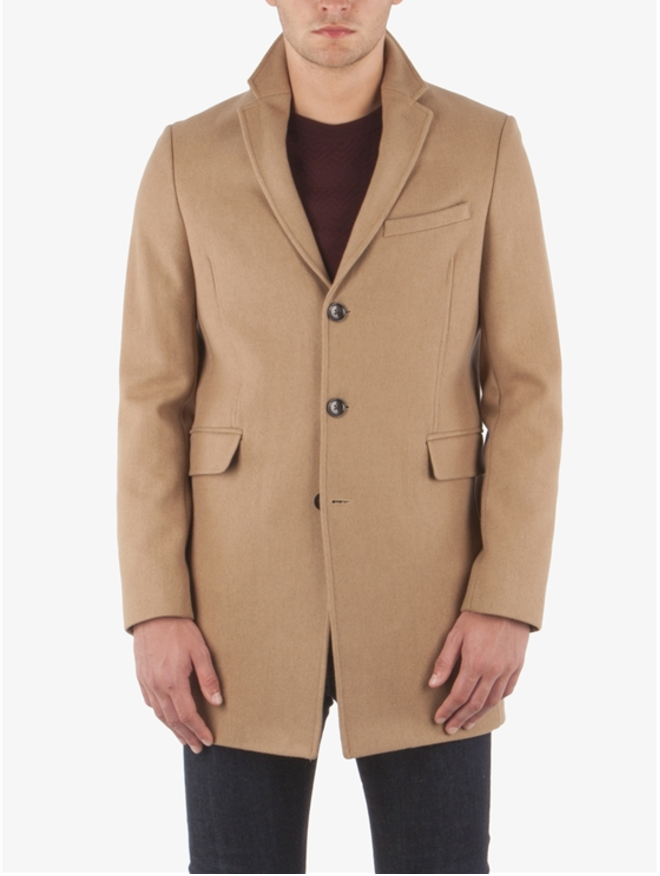 BEN SHERMAN COVERT WOOL BLEND COAT
