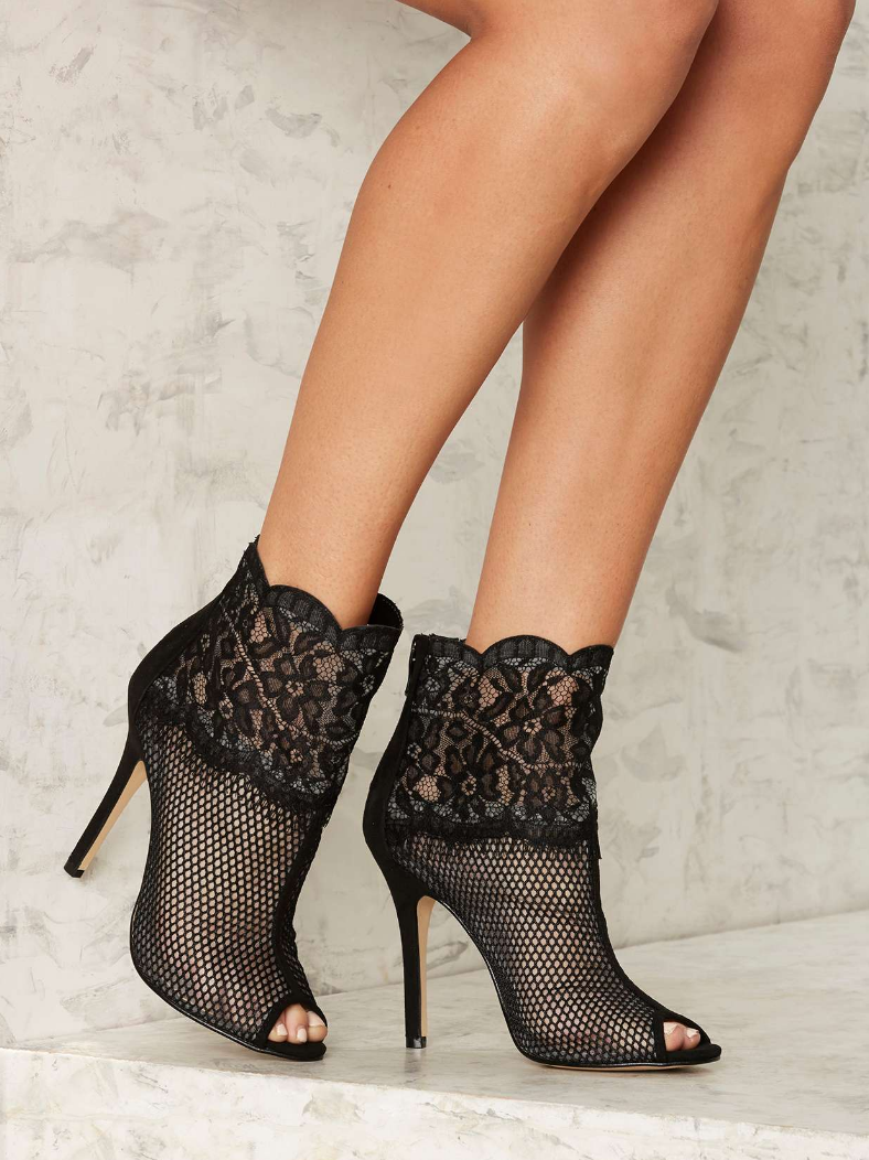 NASTY GAL CABARET LACE BOOTIE