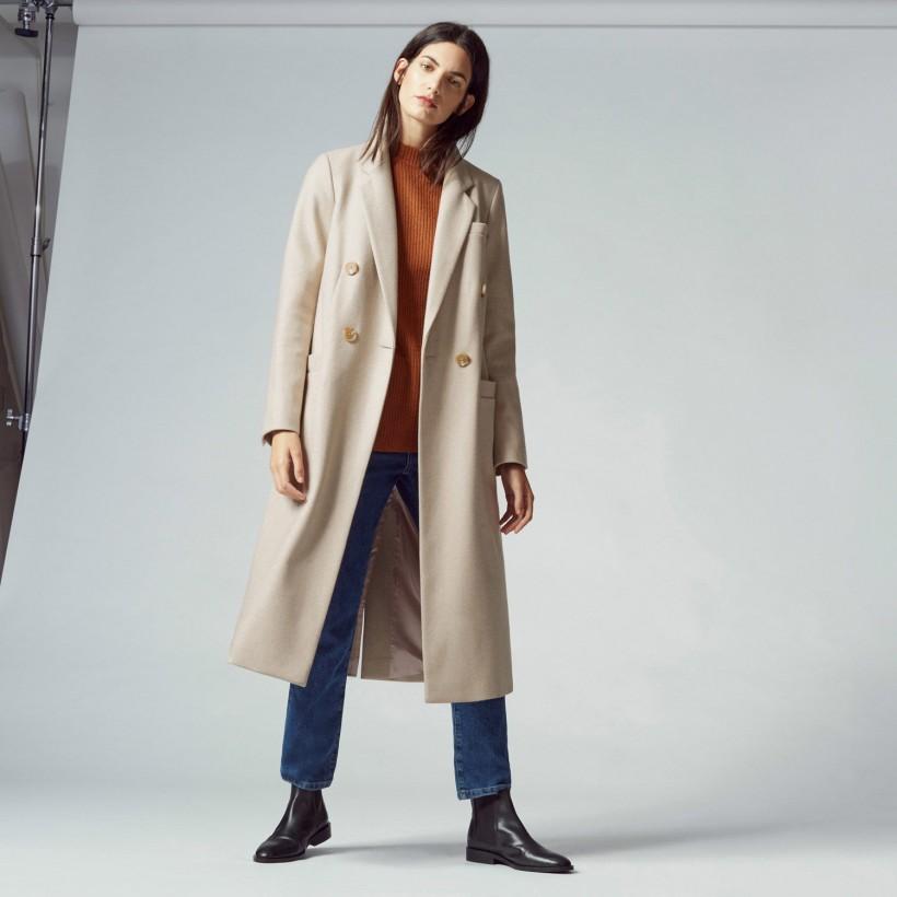 WAREHOUSE SLIM LONG-LINE COAT