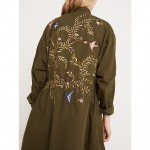 AND/OR EMBROIDERED PARKA JACKET