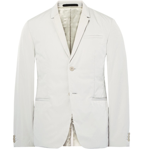 COS SLIM-FIT PADDED PEACHED-SHELL BLAZER