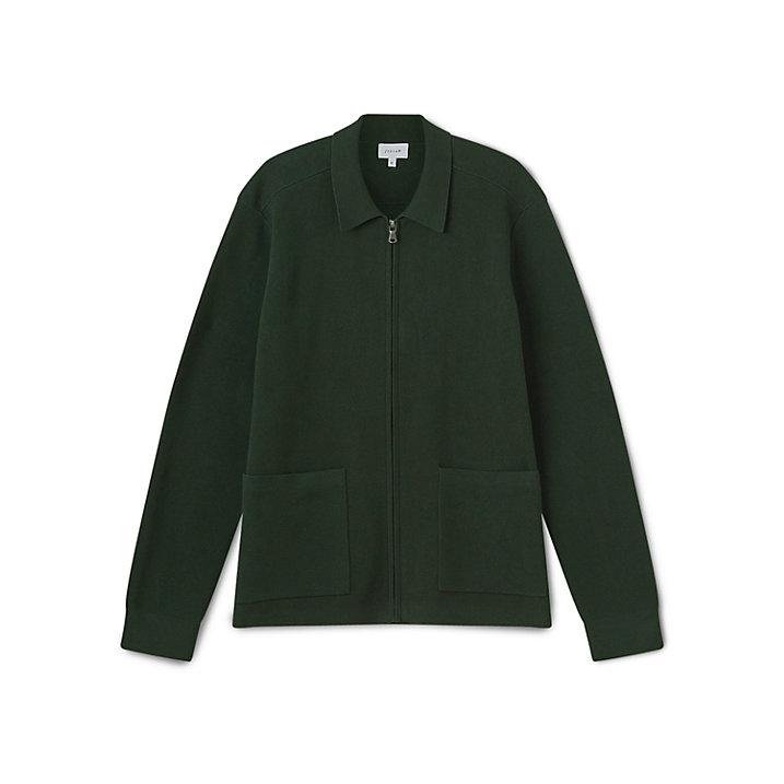 Hunter Green Zip Jacket