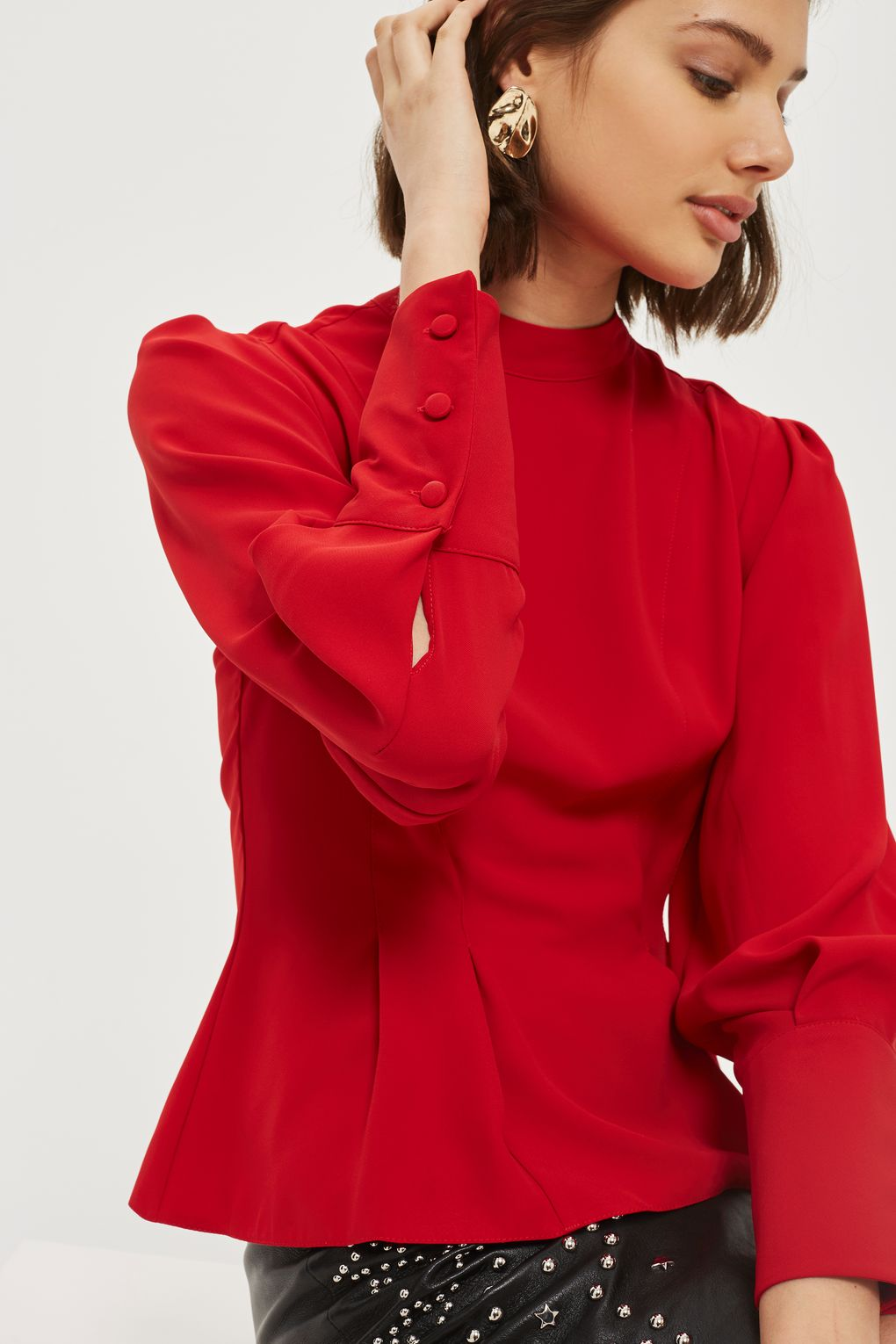 Red Blouse Topshop